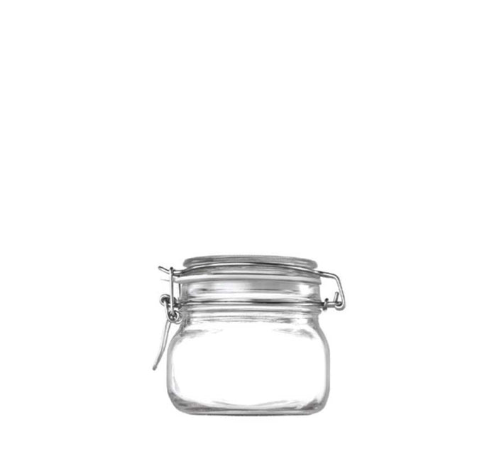 STORE-IT JAR WITH CLIP-TOP LID (500ML), PACK OF 12 - DECO-Vie