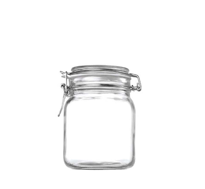 STORE-IT JAR WITH CLIP-TOP LID (1L)x6 - DECO-Vie