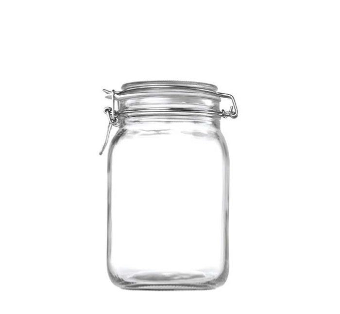 STORE-IT JAR WITH CLIP-TOP LID (2L), PACK OF 12 - DECO-Vie