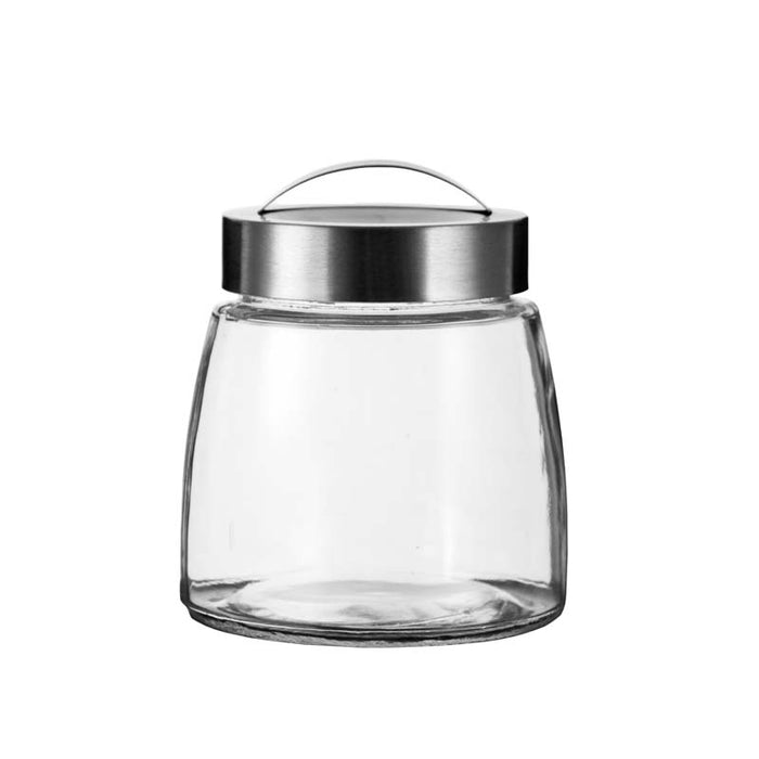 SOHO GLASS CANISTER WITH S/STEEL LID, 3 PIECE SET - DECO-Vie