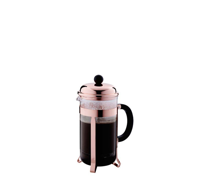 REGENT COFFEE PLUNGER COPPER PLATED FRAME, 3 CUP (350ML) - DECO-Vie