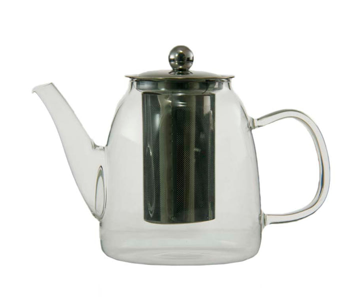 TEA POT GLASS WITH S/S FILTER INFUSER & LID 900ML - DECO-Vie