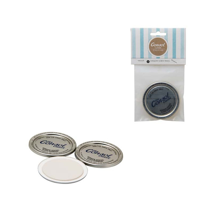 CONSOL PRESERVE JAR DOME LIDS FOR 250ML JARS, 5 PIECE, 12 PACKS - DECO-Vie
