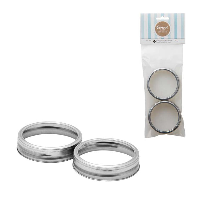 CONSOL PRESERVE JAR SCREW RINGS FOR 250ML, 2 PIECE , 12 PACKS - DECO-Vie