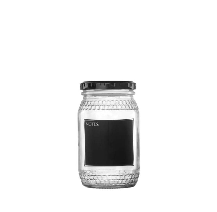 CONSOL HONEY JAR WITH BLACK NOTES (352ML), PACK OF 24 - DECO-Vie