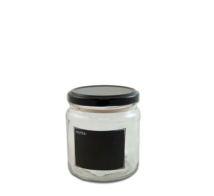 CONSOL JAM JAR WITH BLACK NOTES (291ML), PACK OF 24 - DECO-Vie