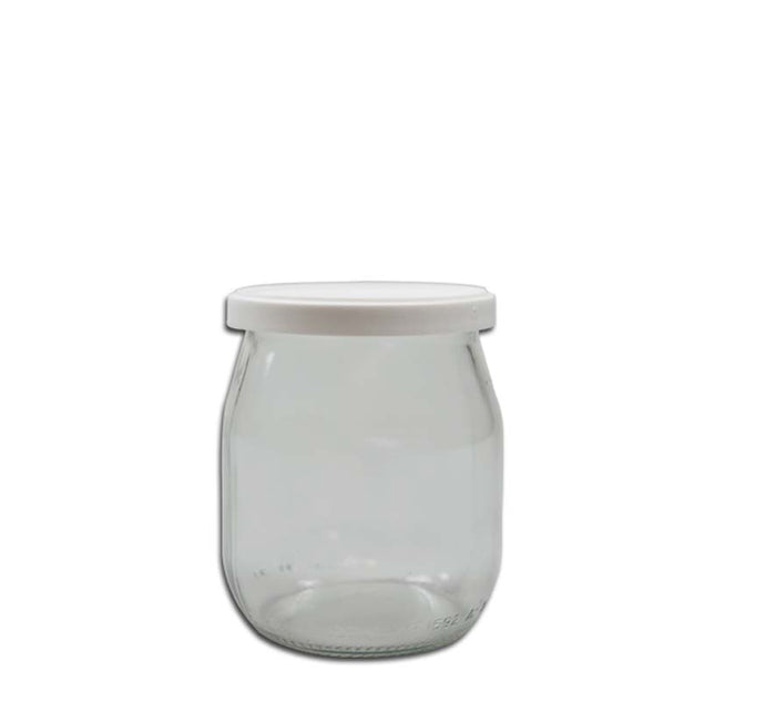 YOGHURT JAR WITH PLASTIC LID (150ML), PACK OF 24 - DECO-Vie