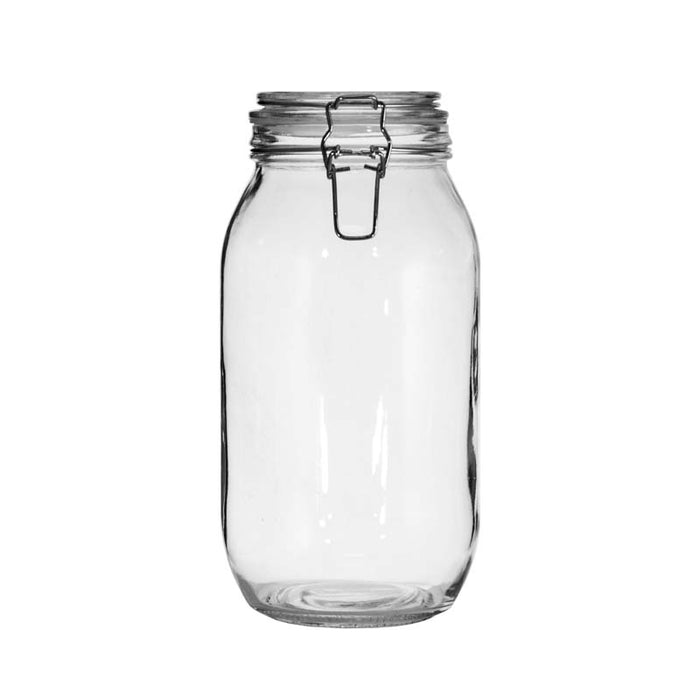 ROUND HERMETIC CANISTER WITH CLIP & SEAL (2L) X 6 UNITS - DECO-Vie