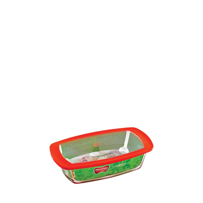 MARINEX RECT. LOAF DISH WITH PLASTIC LID (1.5L) (280X148X72MM) - DECO-Vie