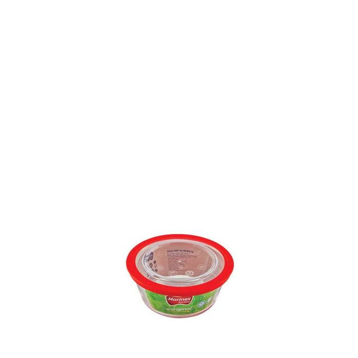 MARINEX ROUND FOOD STORAGE CONTAINER WITH PLASTIC LID (600ML) (144MM:D63MM:H) - DECO-Vie