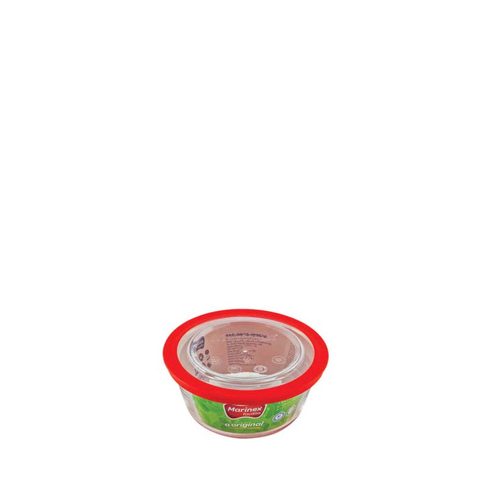 MARINEX ROUND FOOD STORAGE CONTAINER WITH PLASTIC LID (1.2L) (178MM:DX82MM:H) - DECO-Vie