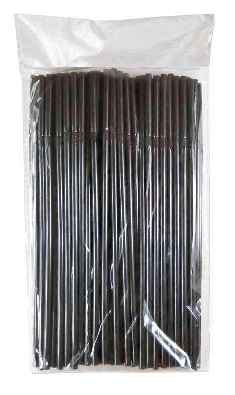 BAR BUTLER STRAWS BLACK BENDY, 100 PCS (5MM)x10 - DECO-Vie