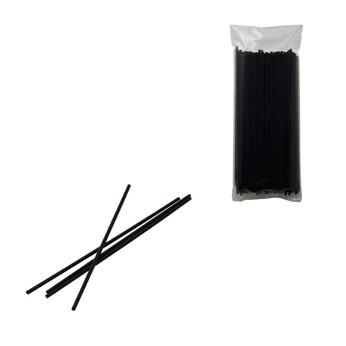 BAR BUTLER BLACK COCKTAIL STRAWS 200 PCS (3.5MM) PACK OF 10 - DECO-Vie