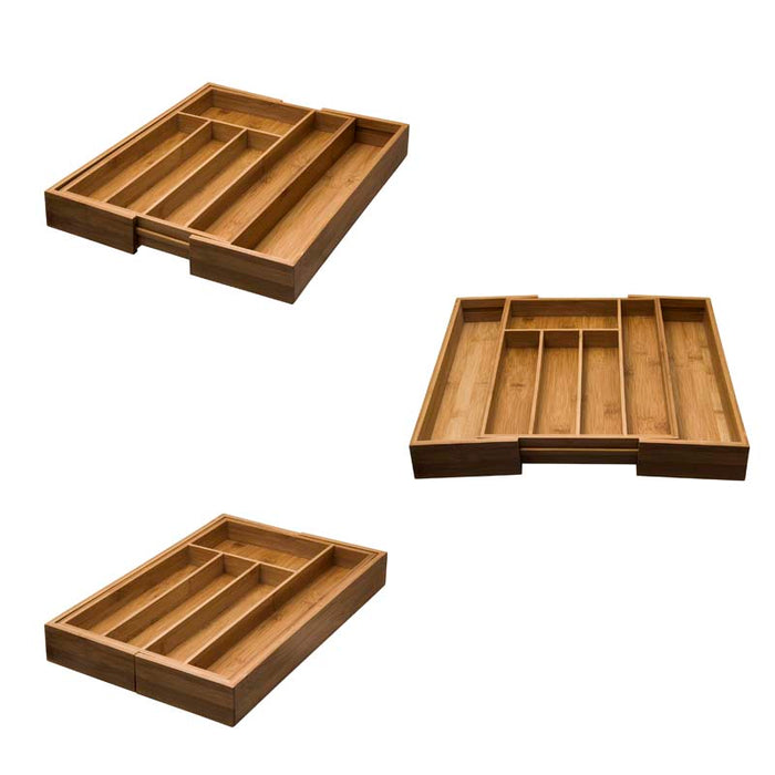 BAMBOO EXPANDABLE CUTLERY TRAY - DECO-Vie