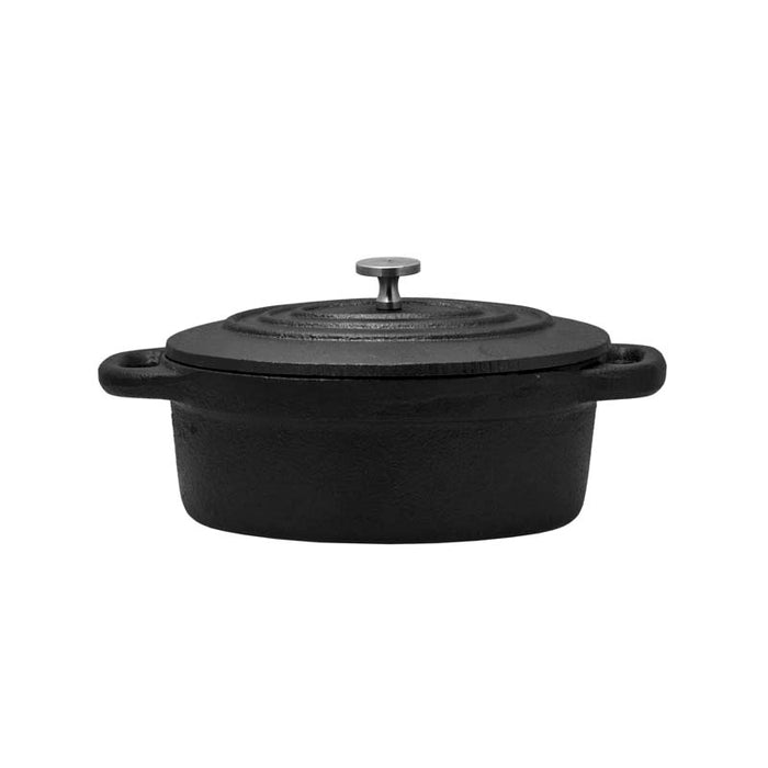 REGENT COOKWARE CAST IRON OVAL MINI POT WITH LID (178/138X103X50MM) - DECO-Vie