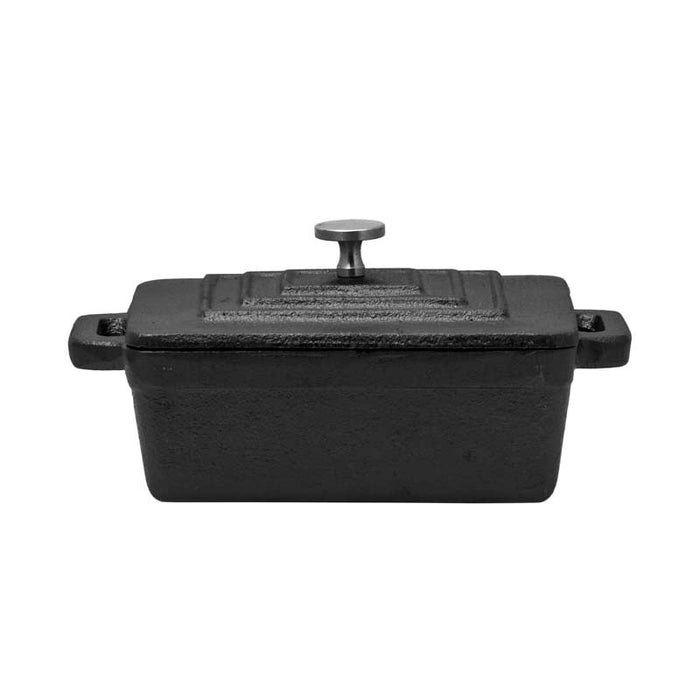 REGENT COOKWARE CAST IRON RECT. MINI POT WITH LID (160/125X90X45MM) - DECO-Vie