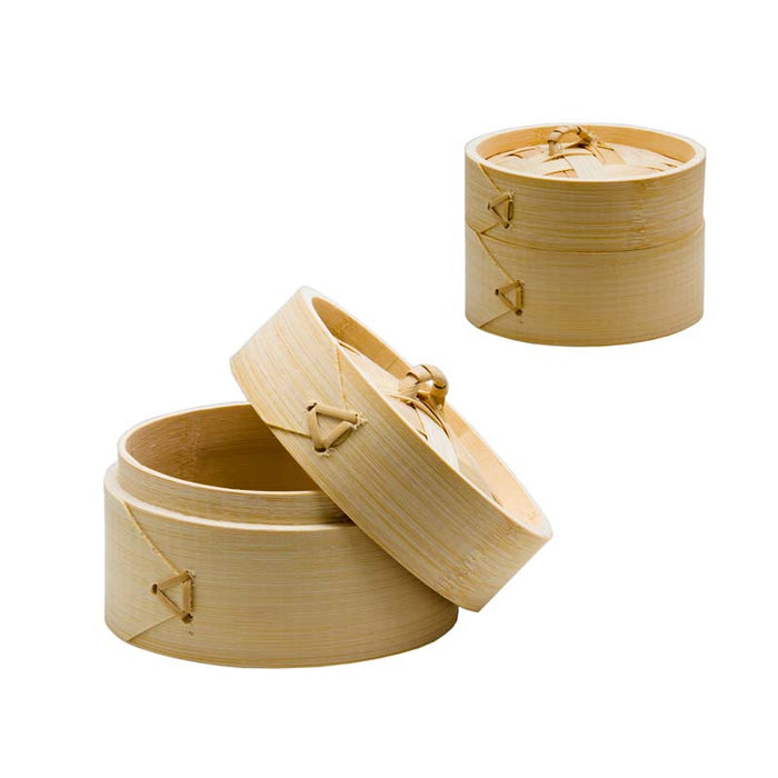 ORIENTAL STEAMER WITH LID BAMBOO 100MM:DIAX45MM - DECO-Vie