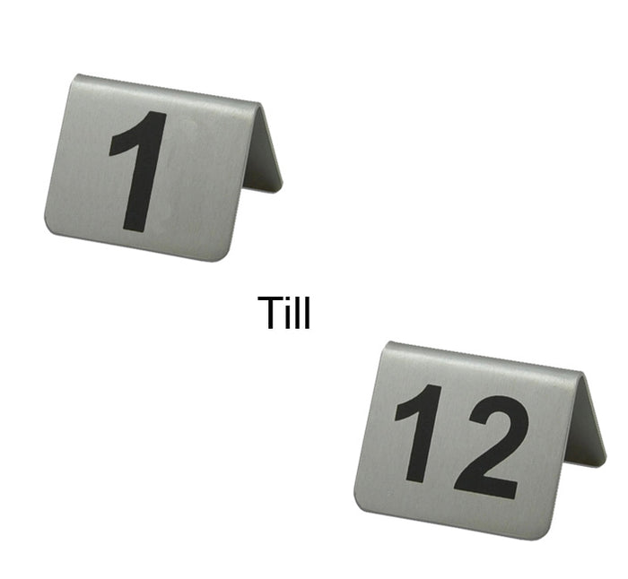 TABLE NUMBER STANDS (NO.1-12) S/STEEL (53X45MM) - DECO-Vie