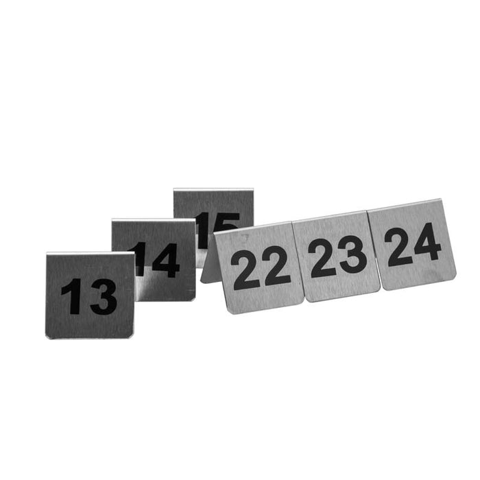 TABLE NUMBER STANDS (NO.13-24) S/STEEL (53X45MM) - DECO-Vie