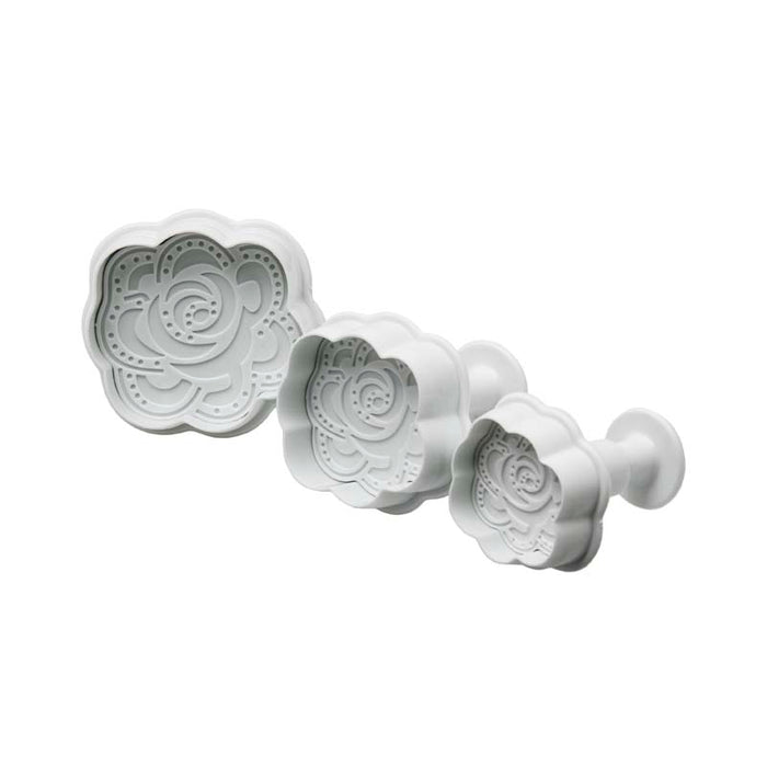 REGENT BAKEWARE ICING PLUNGER CUTTERS - ROSES, 3 PIECE SET - DECO-Vie