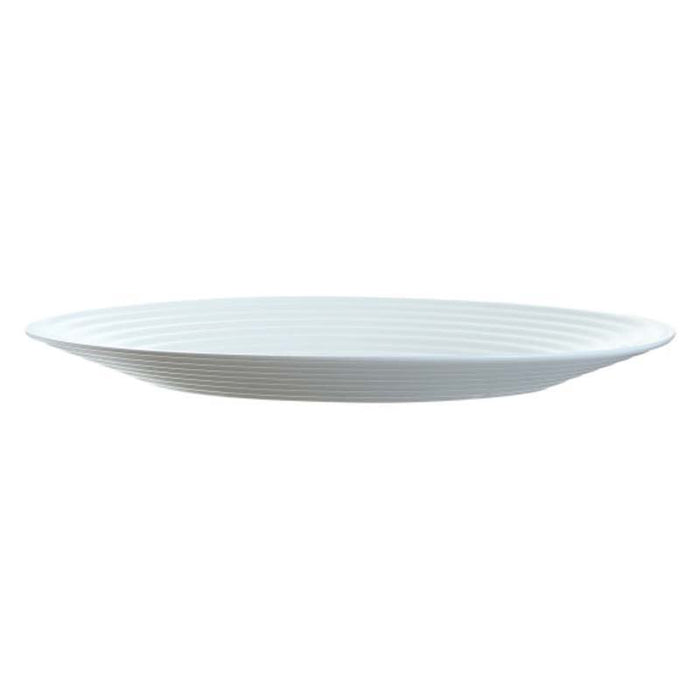 LUMINARC STAIRO WHITE TEMPERED GLASS OVAL PLATE (320MM:DIA)x12 - DECO-Vie