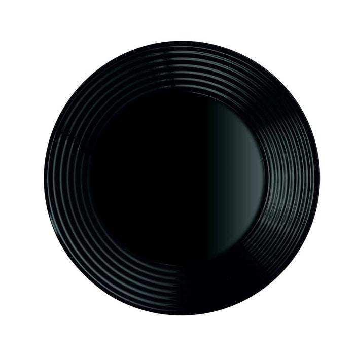 LUMINARC HARENA BLACK TEMPERED SOUP PLATE (230MM:DIA)x12 - DECO-Vie