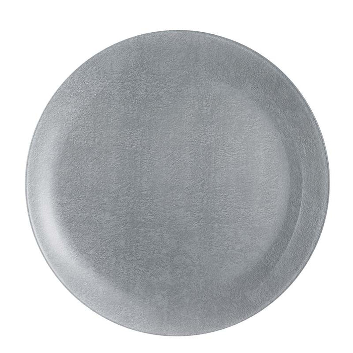 LUMINARC LOFT STONY GREY TEMPERED GLASSS DINNER PLATE (260MM:DIA)x12 - DECO-Vie