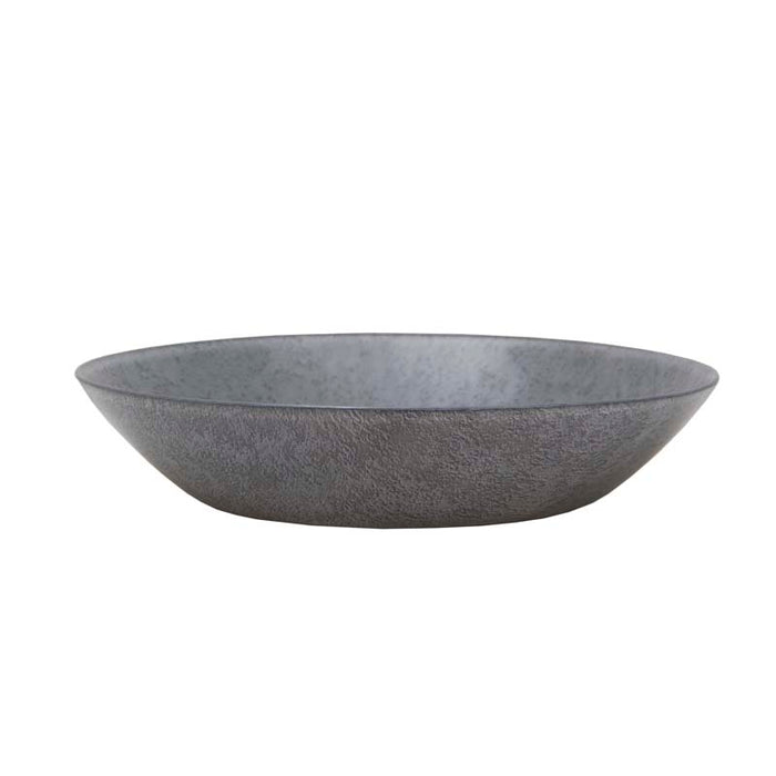 LUMINARC LOFT STONY GREY TEMPERED GLASS RIMLESS SOUP PLATE (200MM:DIA)x6 - DECO-Vie