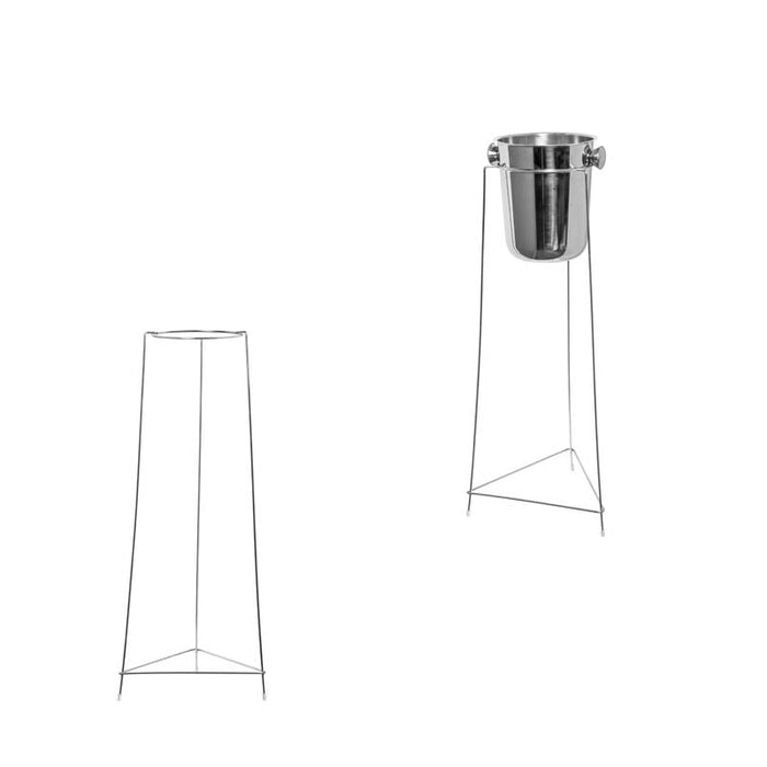 BAR BUTLER ICE BUCKET STAND S/STEEL (810MM:H) - DECO-Vie