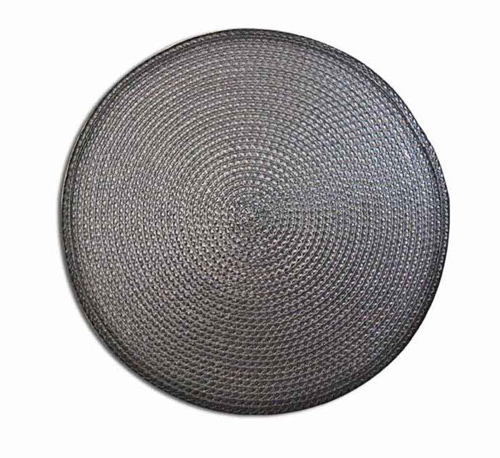 REGENT PLACEMAT ROUND PP BLACK (385MM:DIA) - DECO-Vie