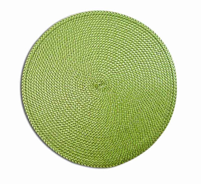 REGENT PLACEMAT ROUND PP GREEN (385MM:DIA) - DECO-Vie