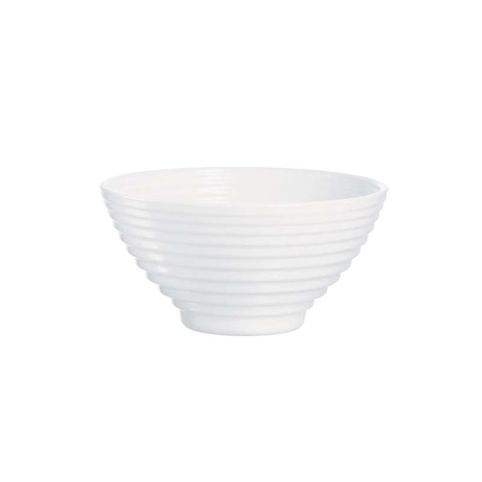 LUMINARC STAIRO WHITE TEMPERED GLASS NOODLE BOWL SET OF 6 - DECO-Vie