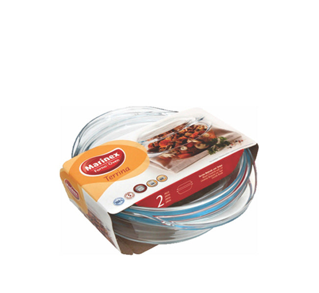 MARINEX LARGE ROUND CASSEROLE (1.9L) & LID (900ML) (2.8L) (285X225X82MM) - DECO-Vie