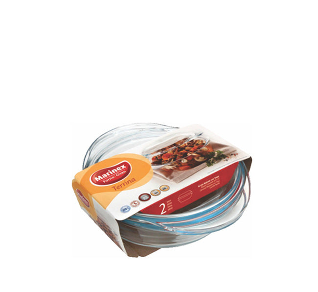 MARINEX MEDIUM ROUND CASSEROLE (1.5L) & LID (800ML) (2.3L) (260X202X105MM) - DECO-Vie