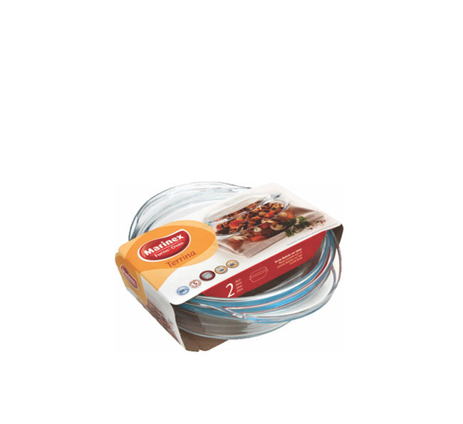 MARINEX SMALL ROUND CASSEROLE (700ML) & LID (300ML) (1L) (205X160X65MM) - DECO-Vie