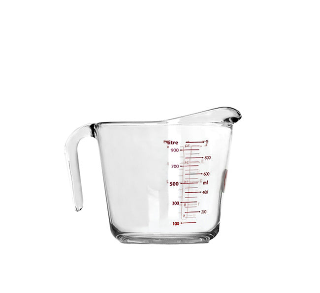 MARINEX TEMPERED GLASS MEASURING JUG (1L) (202X146X147MM) - DECO-Vie