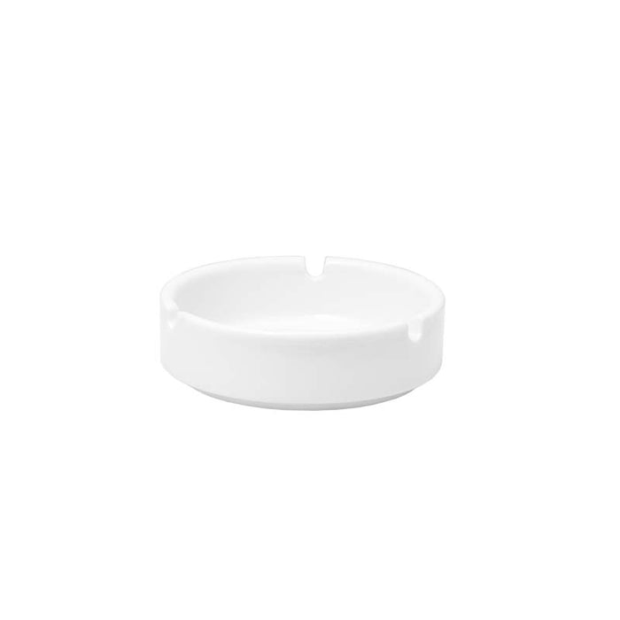 ROUND WHITE CERAMIC STACKABLE ASHTRAY (95MM:DX30MM:H)x 10 - DECO-Vie