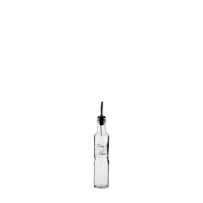 CLEAR OIL & VINEGAR BOTTLE WITH POURER (250ML) x 6 - DECO-Vie