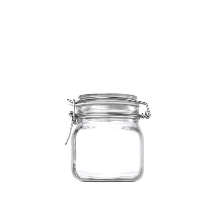 STORE-IT JAR WITH CLIP TOP LID (750ML)X6 - DECO-Vie