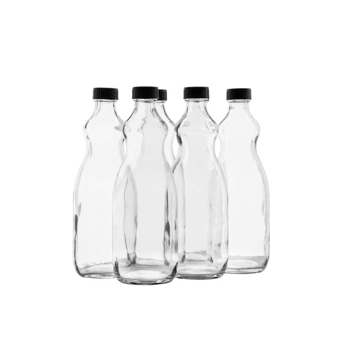 BOTTLE UTILITY WITH BLACK LID, 6 PACK (750ML) - DECO-Vie