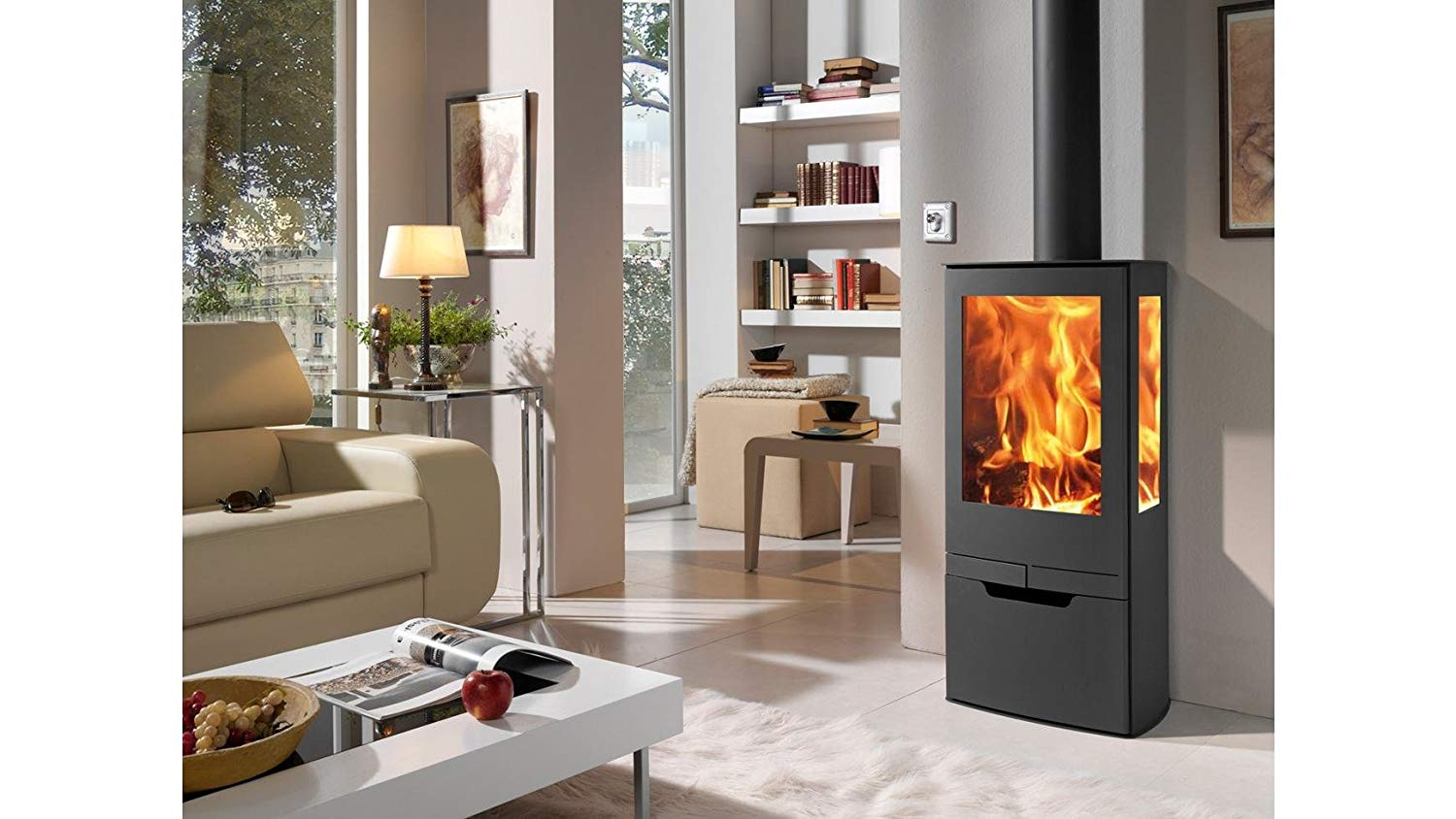 Image of Contemporary Three sided stove