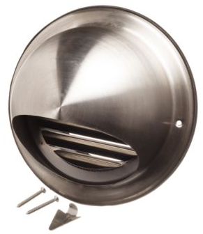 Image of a stainless steel external ventilation cover