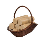Image of Wicker basket holding All Star Premium Eco Logs