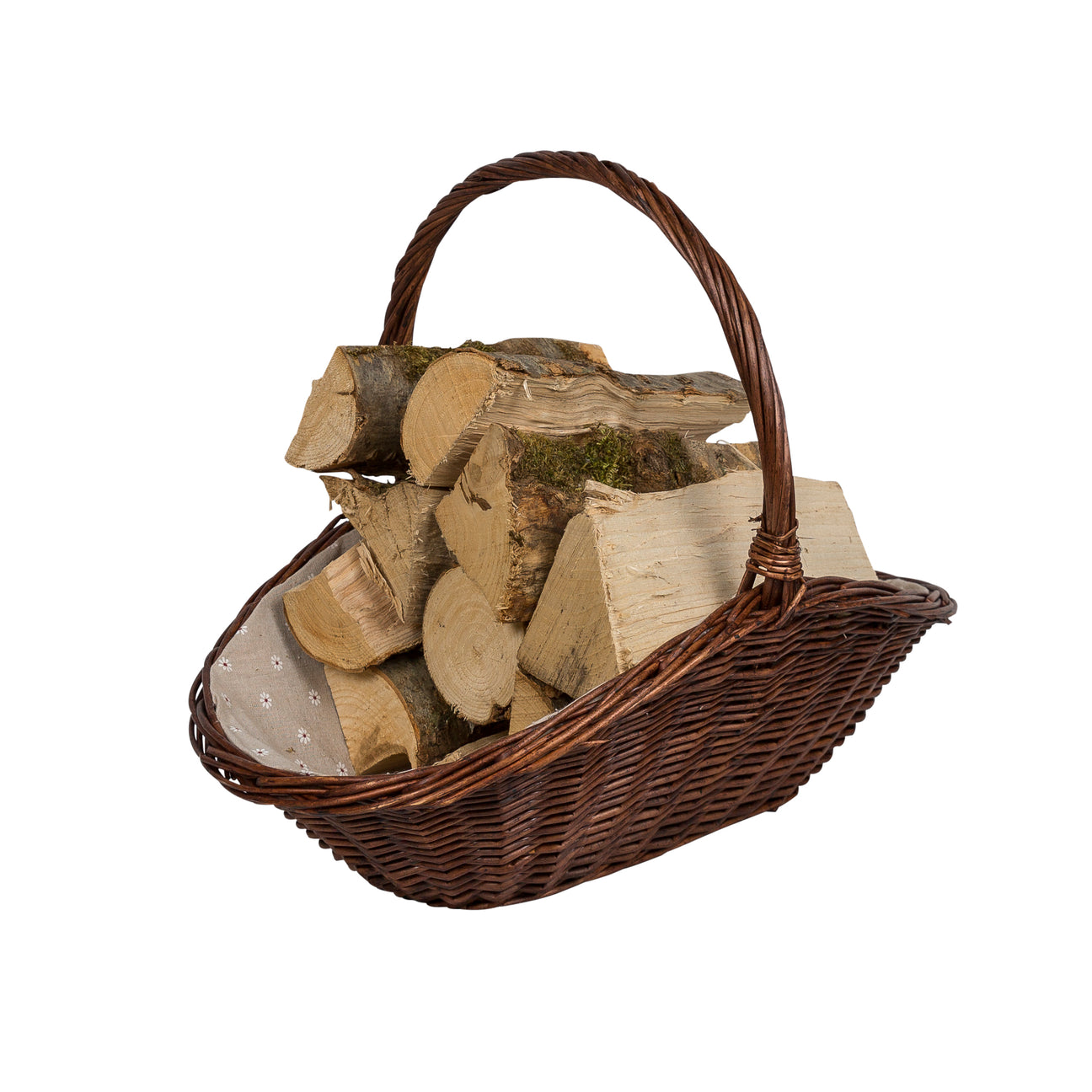 Image of Wicker basket holding firewood