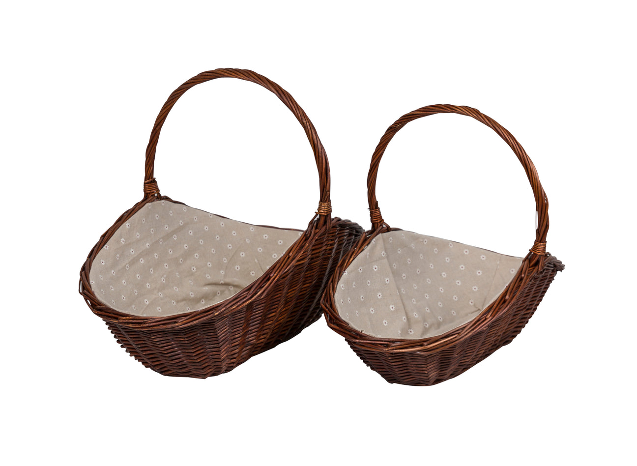 Image of a large and small wicker basket