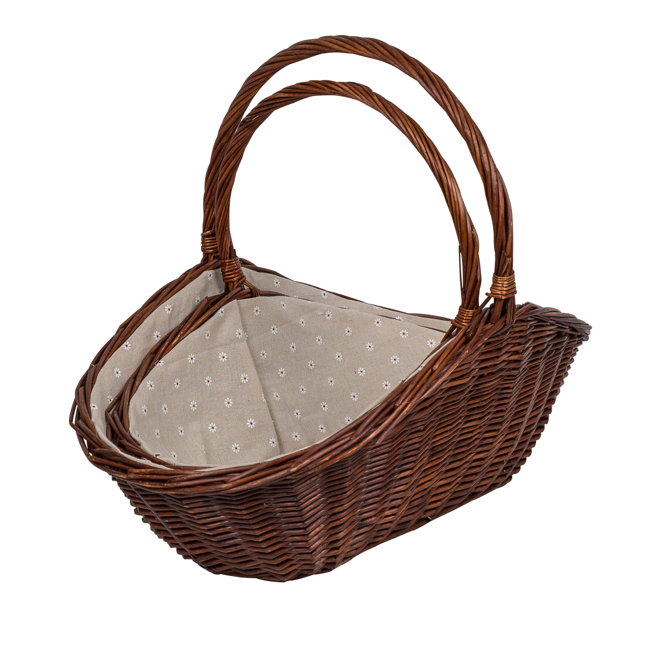 Image of a large and small wicker basket as a set