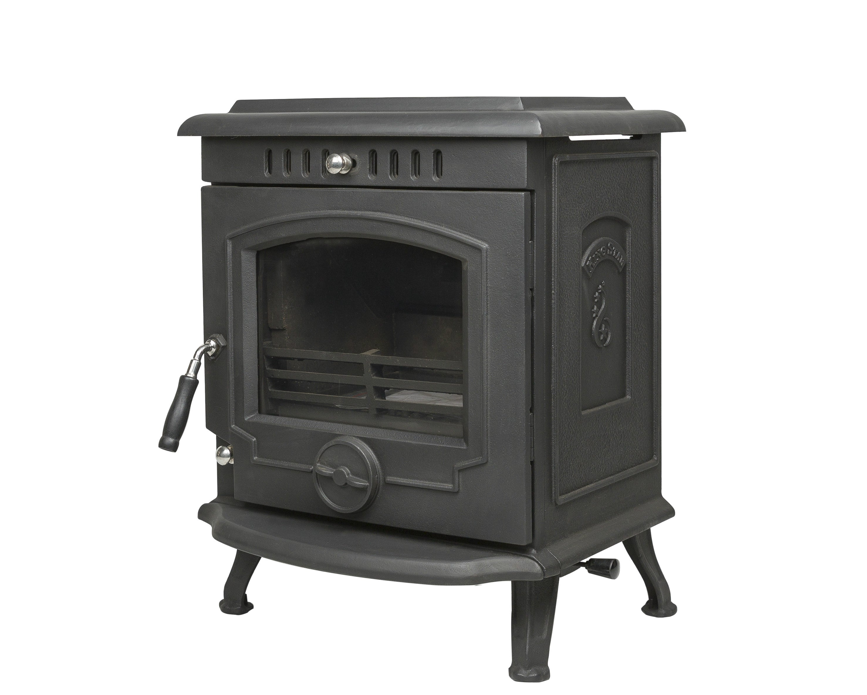 A side image of The Fraser Free Standing Stove