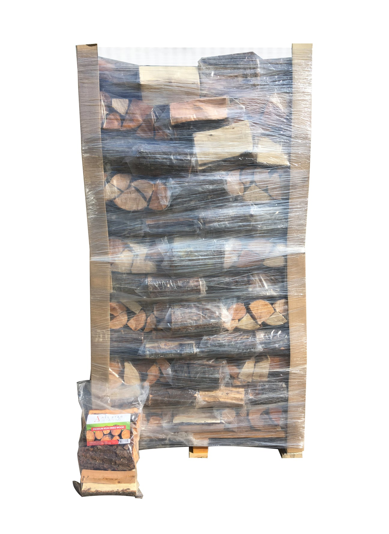 Image of Kiln Dried wood in plastic bags