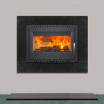 Image of Shannon Eco Stove set in granite frame