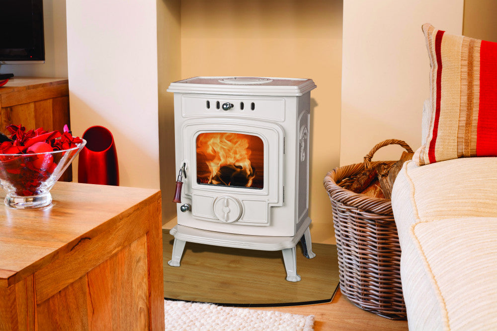 Image of Robin 5 kW Free Standing Stove in cream enamel